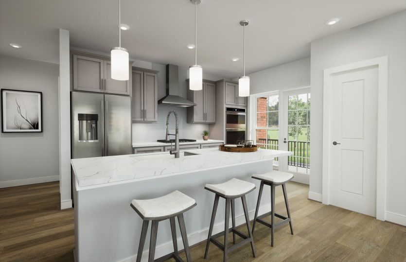 Beckett:Gourmet Kitchen with Stainless Steel Appliances