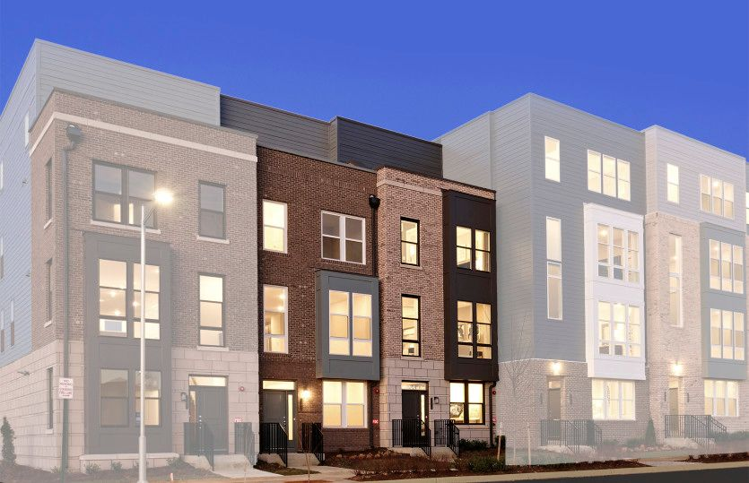 Dyerton:Luxurious & Spacious 4-Level Townhomes at MetroPark at Arrowbrook in Herndon, Va