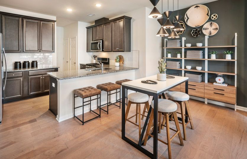 Bowery:Designer kitchen with plenty of cabinet space