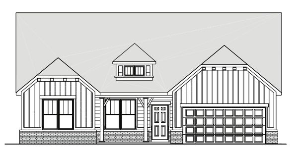 V2284 Drawn:Drawn elevation of the V2284 Home Design - options and finishes may vary.