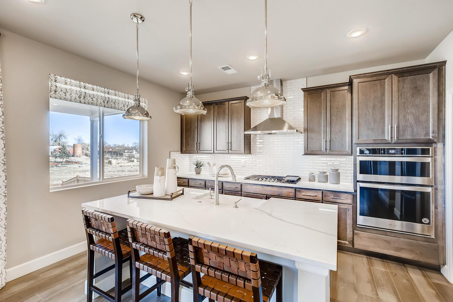 New home in Brighton CO kitchen at Homestead