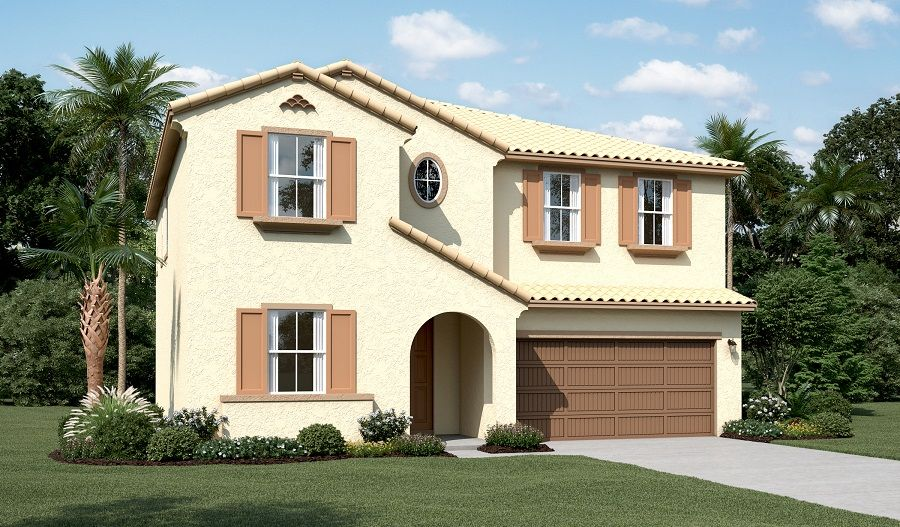 Andrea-N670-OrchardsValleyGlen Elevation A:The Andrea - Elevation A