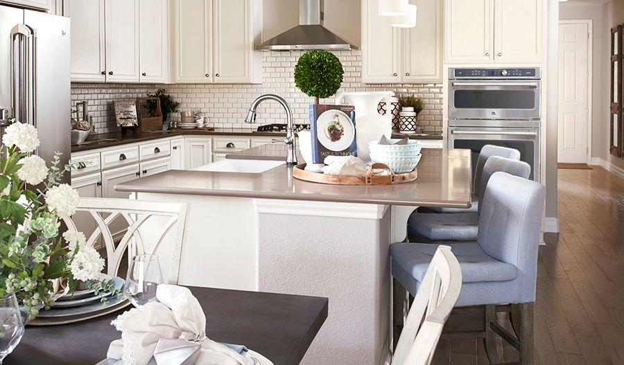 Arlington-DEN-Dining room/kitchen (Cobblestone):The Arlington