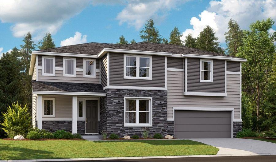 Oakley-W623-ForestGlen Elevation H:The Oakley - Elevation H