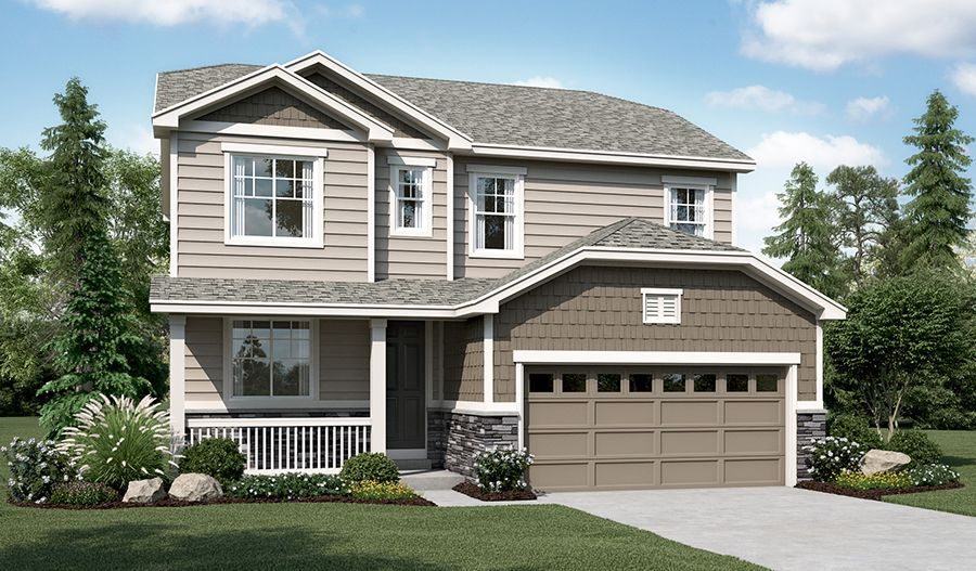 Whitman-D200-RidgeHarmonyRoad Elevation A:The Whitman - Elevation A