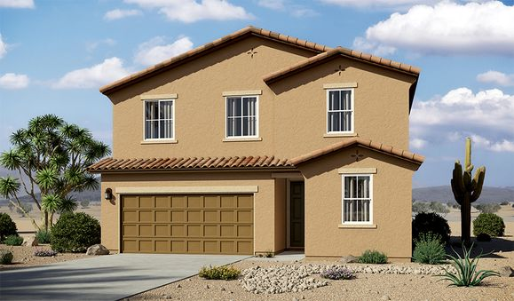 Pearl-T913-EntradaDelRio Elevation A:The Pearl - Elevation A