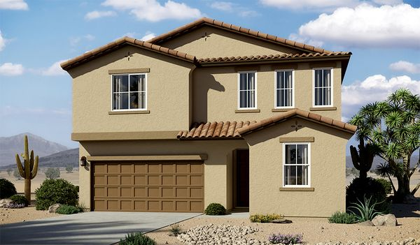 Moonstone-T914-EntradaDelRio Elevation A:The Moonstone - Elevation A