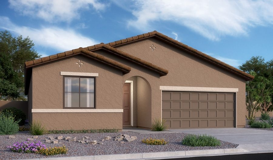 Raleigh-T741-RanchoCascabel Elevation A:The Raleigh - Elevation A