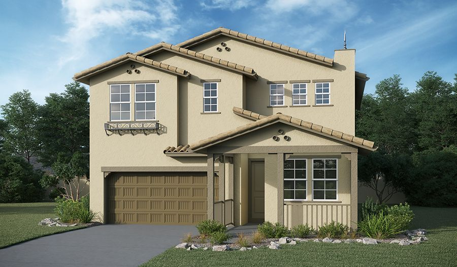 Flynn-S825-PineberryAtThePreserve Elevation A:The Flynn - Elevation A