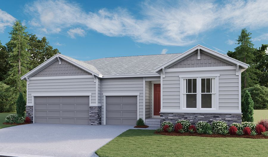 Powell-D854-Cliffrose-Homestead-Crystal-Valley Elevation A:The Powell - Elevation A
