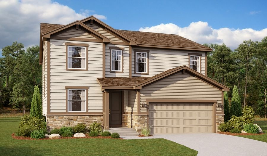 Hemingway-D250-BelleviewVillage Elevation A Day:The Hemingway - Elevation A