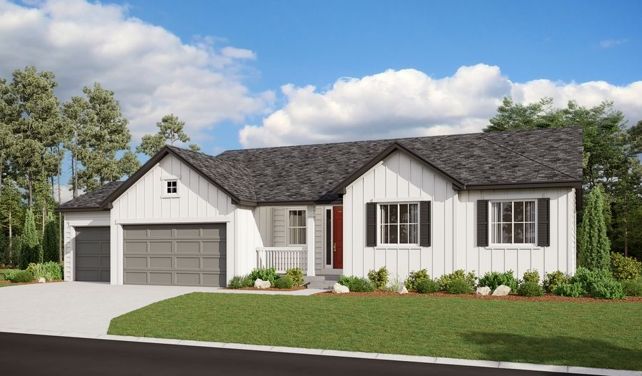 Melody-D22M-OakRidgeAtCrystalValley Elevation A (3-car):The Melody Elevation A