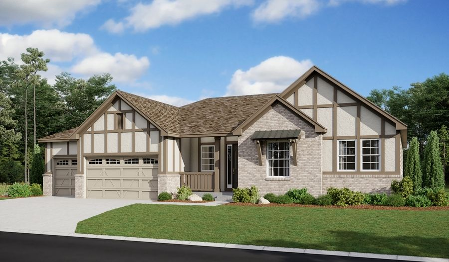 Melody-D22M-ThePinnacleAtCobblestoneRanch Elevation E (3-car):The Melody Elevation E