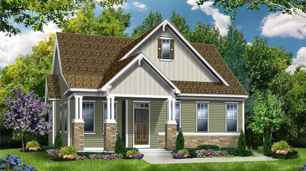 The Hampton:Cottage Elevation