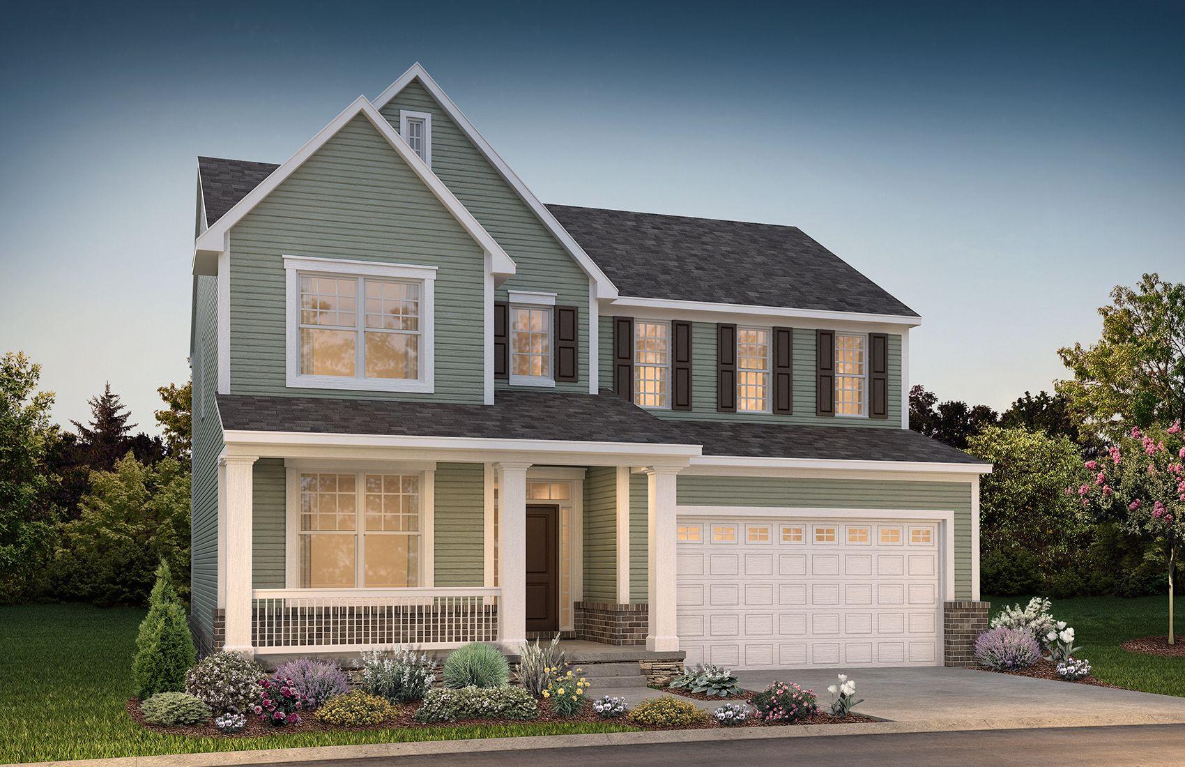 Exterior of a New Home in Novi MI:Yorktown Exterior