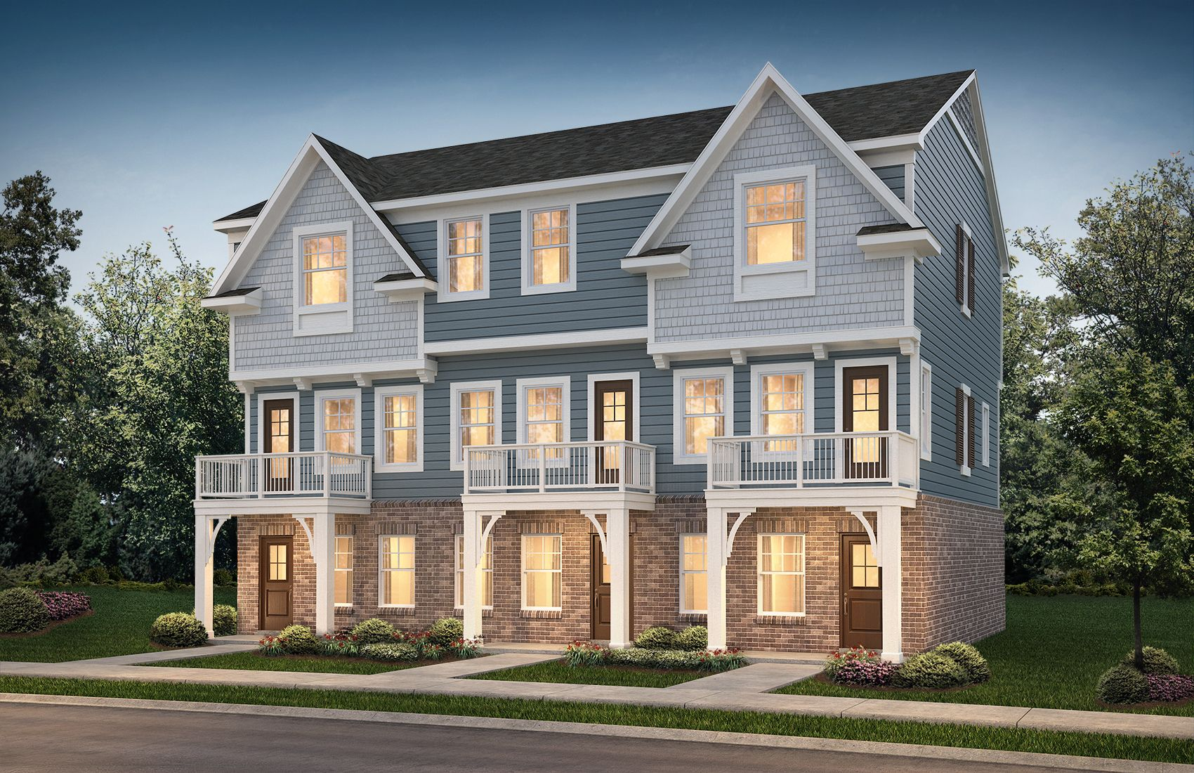 Aspen 3 unit town home building