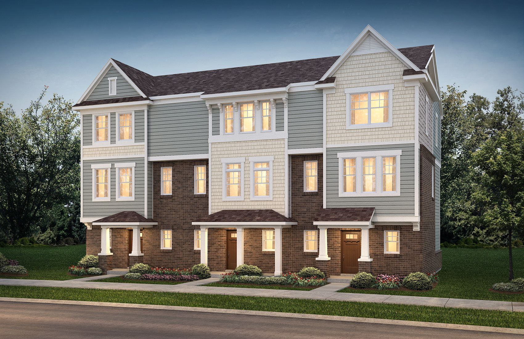 3 unit town home building