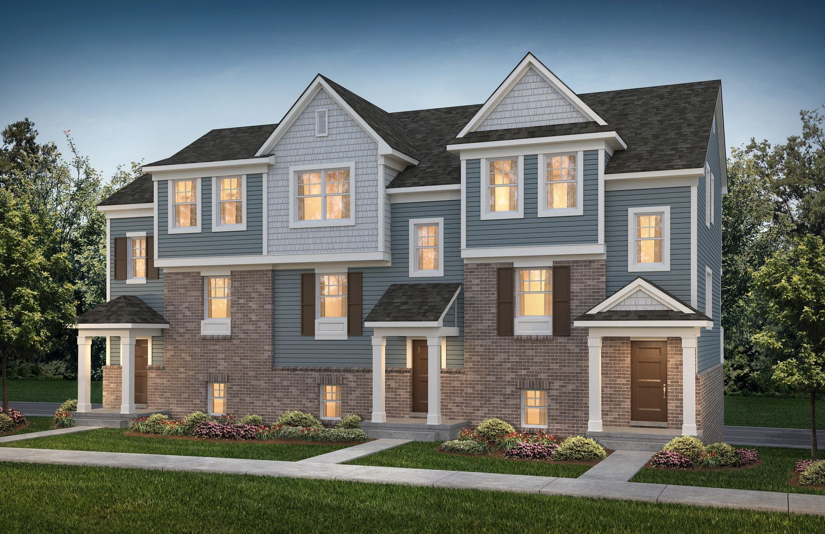 Town Homes in Troy MI Home Exteriors