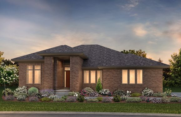 Exterior rendering of ranch home:Hickory Modern Prairie