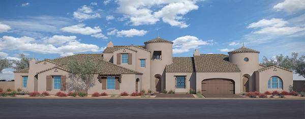 Residence Two, Residence Four, & Residence One:Spanish Colonial Exterior Style