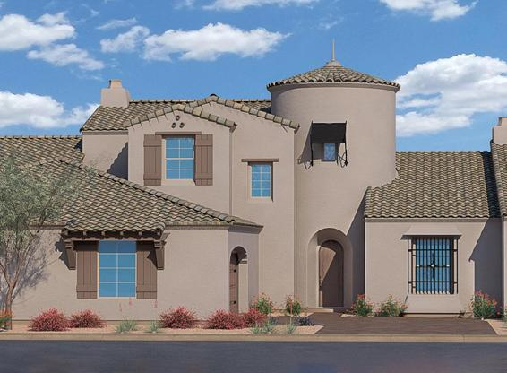 Exterior:Residence Four with Spanish Colonial Exterior