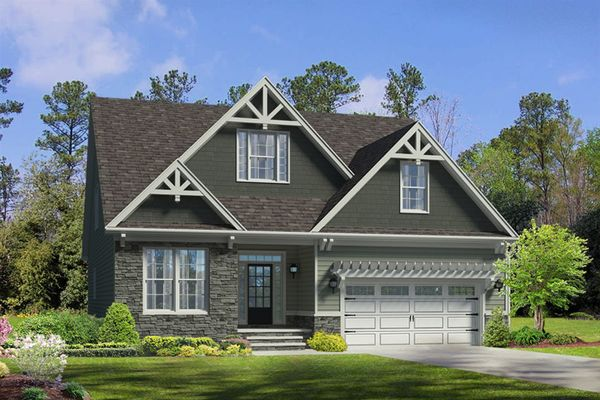 The Hanover | Homesite 64 | 1225 Valley Dale Drive | Front Exterior Rendering