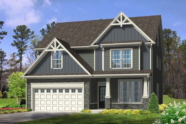 The Davidson | Homesite 34 | 1115 Clearwood Lane | Front Exterior Rendering