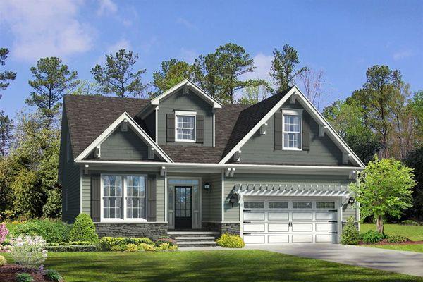 The Hanover | Bent Tree | Homesite 52 | Front Exterior Rendering