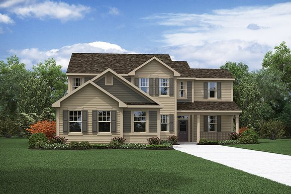 The Kendrick - Colonial Elevation - Trademark Series - Mattamy Homes:The Kendrick - Colonial Elevation - Trademark   Images of the home are for illustrative purposes on