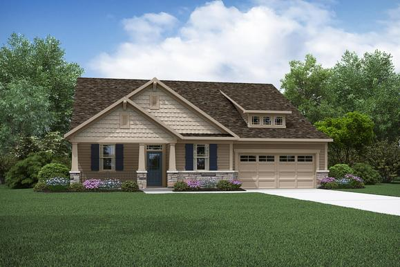 The Abbott - Craftsman Elevation - Trademark Series - Mattamy Homes:The Abbott - Craftsman Elevation, Trademark | Images of the home are for illustrative purposes only