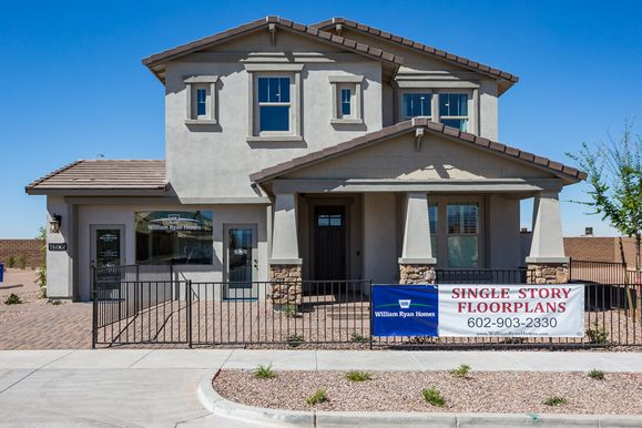 Sierra model home craftsman elevation Wavelength at Eastmark William Ryan Homes Phoenix:Wavelength at Eastmark by William Ryan Homes - Sierra - Model Home - Craftsman Elevation