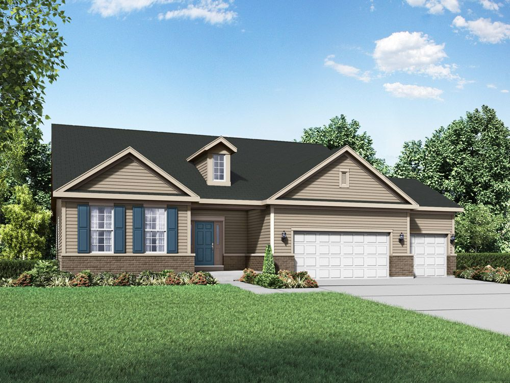 Coventry II Williamsburg exterior elevation rendering by William Ryan Homes:Coventry II - Williamsburg