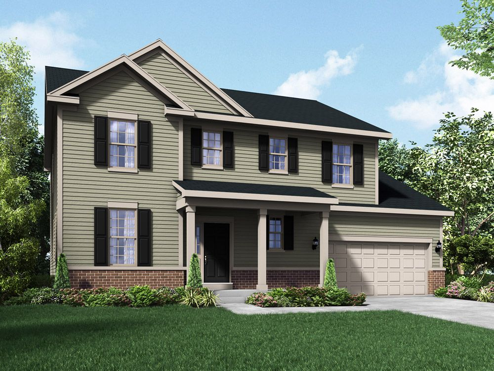 Williamsburg exterior elevation rendering Sheridan II by William Ryan Homes:Sheridan II - Williamsburg