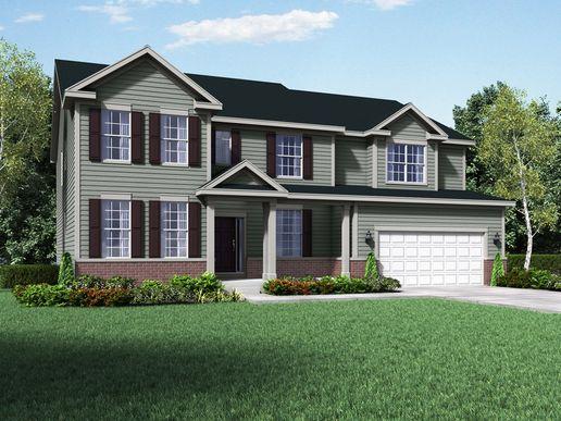 Williamsburg exterior elevation rendering Jensen II by William Ryan Homes:Jensen II - Williamsburg