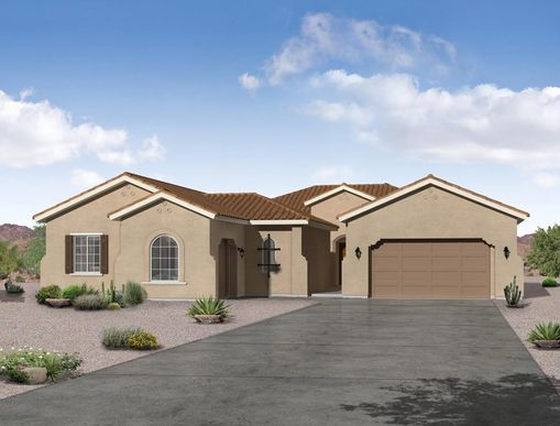 Spanish exterior elevation Cervantes floor plan by William Ryan Homes Phoenix:Cervantes - Spanish Exterior