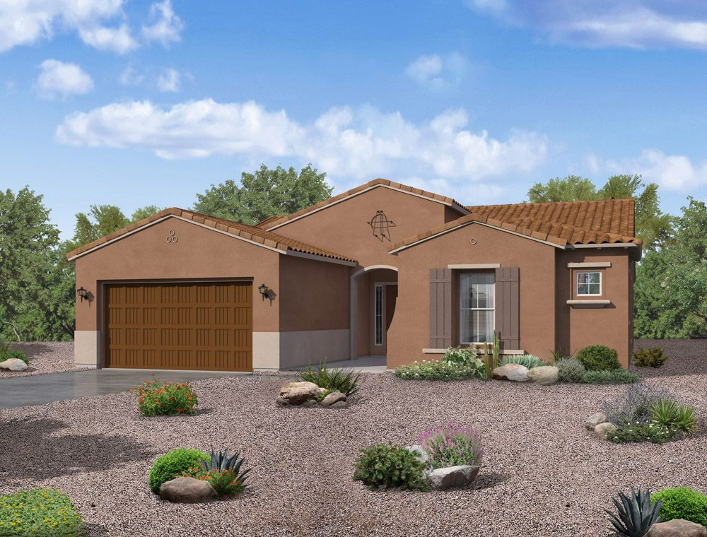 Tierra spanish elevation available at Alicante at Vistancia Peoria AZ by William Ryan Homes Phoenix:Tierra - Spanish Elevation