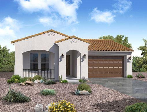 spanish exterior elevation rendering Jasmine floor plan by William Ryan Homes Phoenix:Jasmine - Spanish Exterior