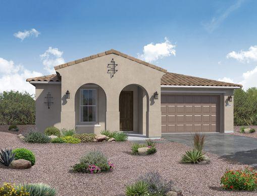 Spanish exterior elevation rendering Jimson floor plan by William Ryan Homes Phoenix:Jimson - Spanish Exterior