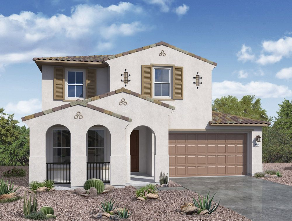 Sierra plan spanish exterior elevation by William Ryan Homes Phoenix:Sierra - Spanish Exterior