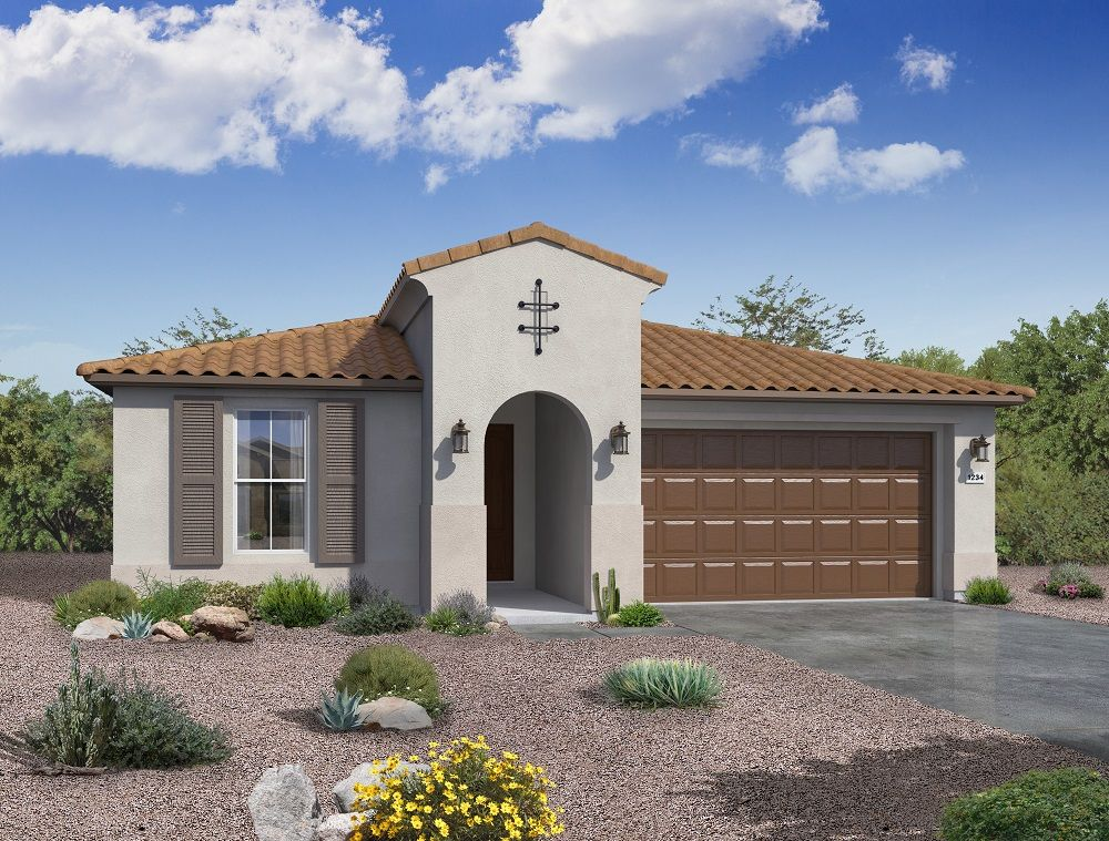 Sedona Spanish elevation available at Agave Ridge at Vistancia Peoria AZ by William Ryan Homes Ph...:Sedona - Spanish Elevation