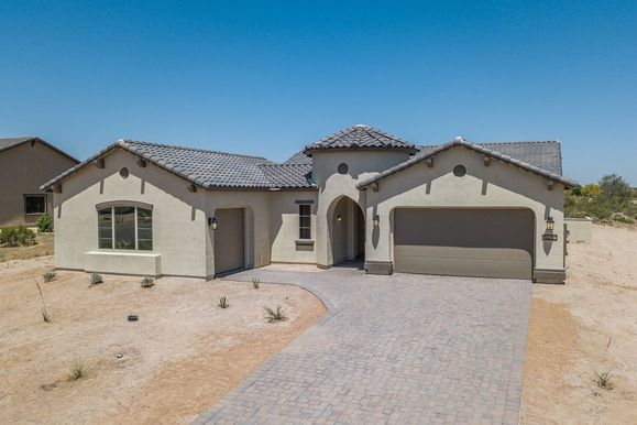 19240 W Echo Lane Waddell AZ 85355 Cervantes front exterior new construction home for sale by Wil...:19240 W. Echo Lane - Cervantes Monterey Elevation - New Construction Home for Sale