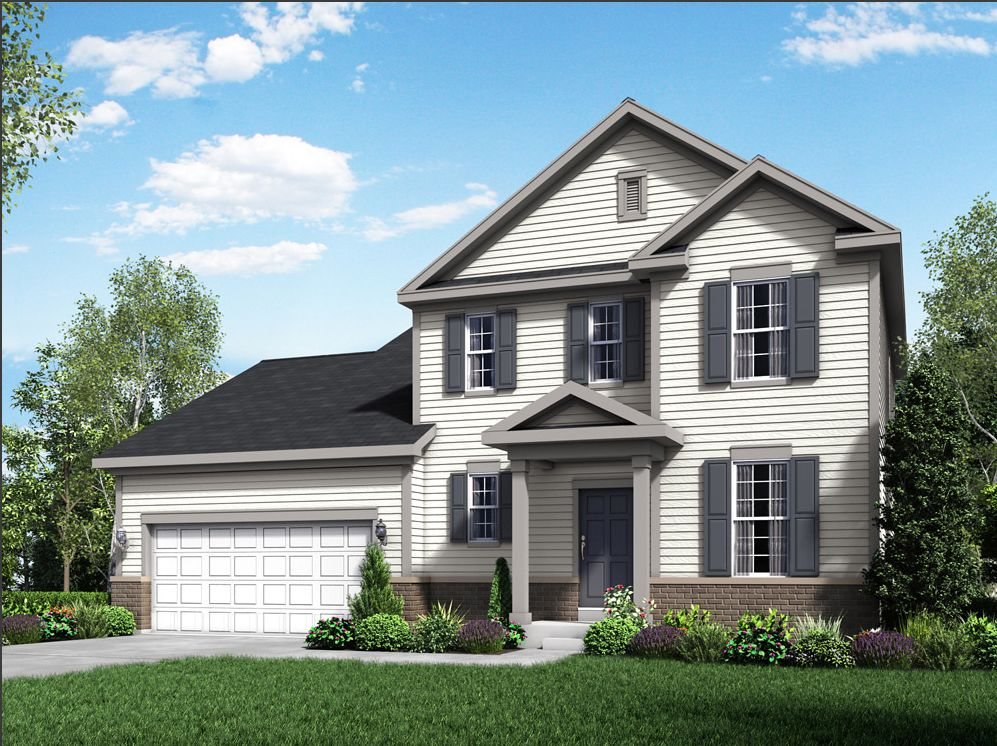 2532 Red Bud Lane Madison WI 53590 Fordham II front exterior new construction home for sale by Wi...:2532 Red Bud Lane - Fordham II - Front Exterior