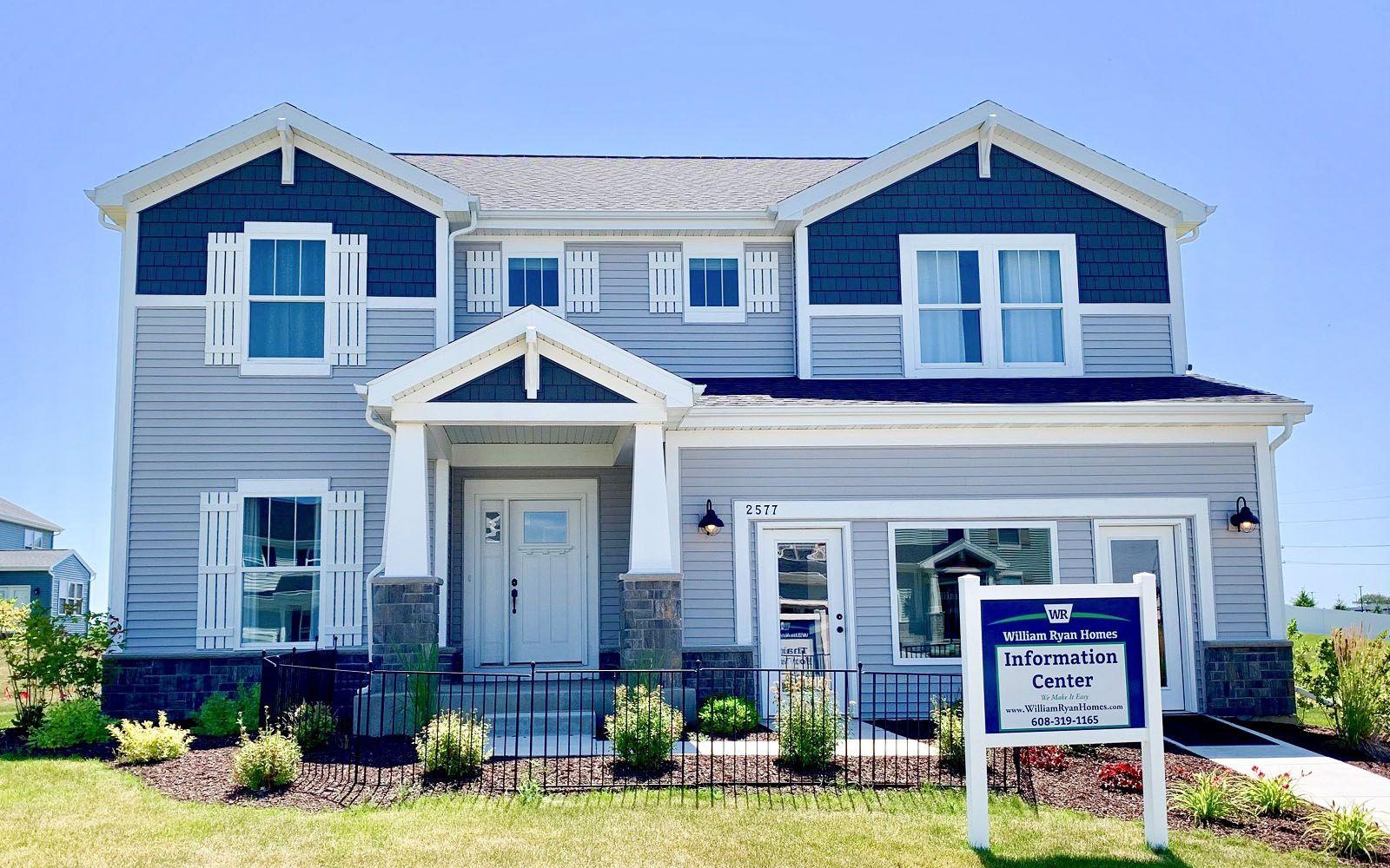 craftsman exterior model home Sulton floor plan West Prairie Village in Sun Prairie WI by William...
