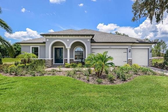 La Paloma in the Villages at Cypress Creek new homes for sale in Sun City Center FL by William Ry...:La Paloma in the Villages at Cypress Creek - Joyce - Front Exterior