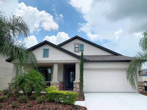 Sweetwater new homes for sale at FloraBlu Estates in Seffner FL by William Ryan Homes Tampa:Sweetwater - Craftsman-Style with Stone - Offered at FloraBlu Estates
