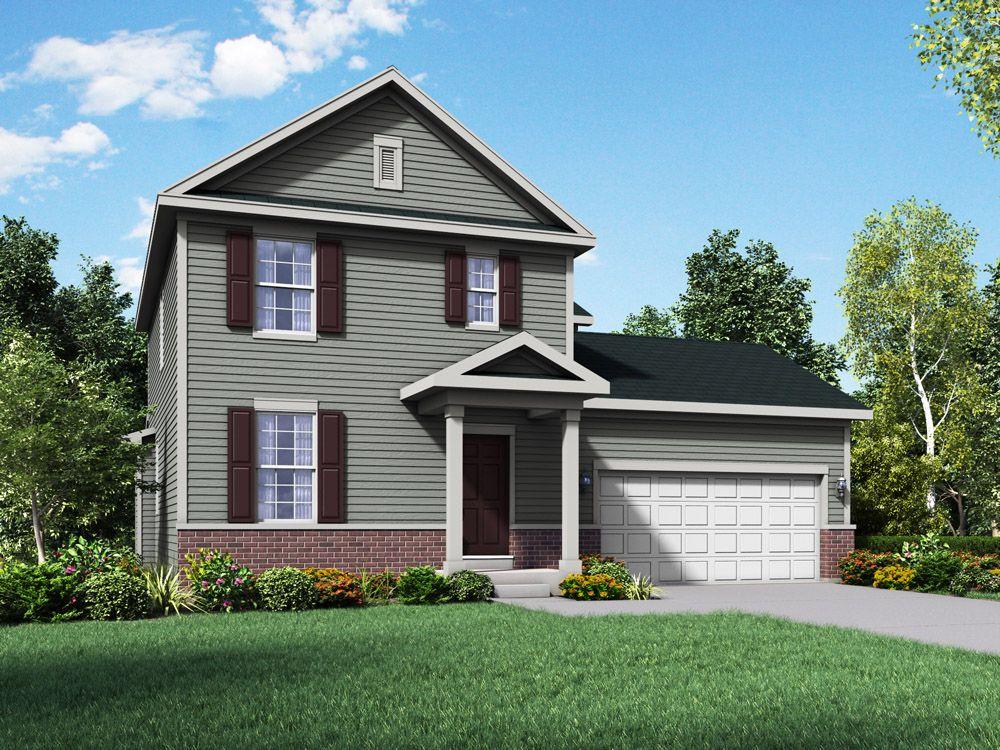Fairfax Williamsburg exterior elevation rendering by William Ryan Homes:Fairfax - Williamsburg