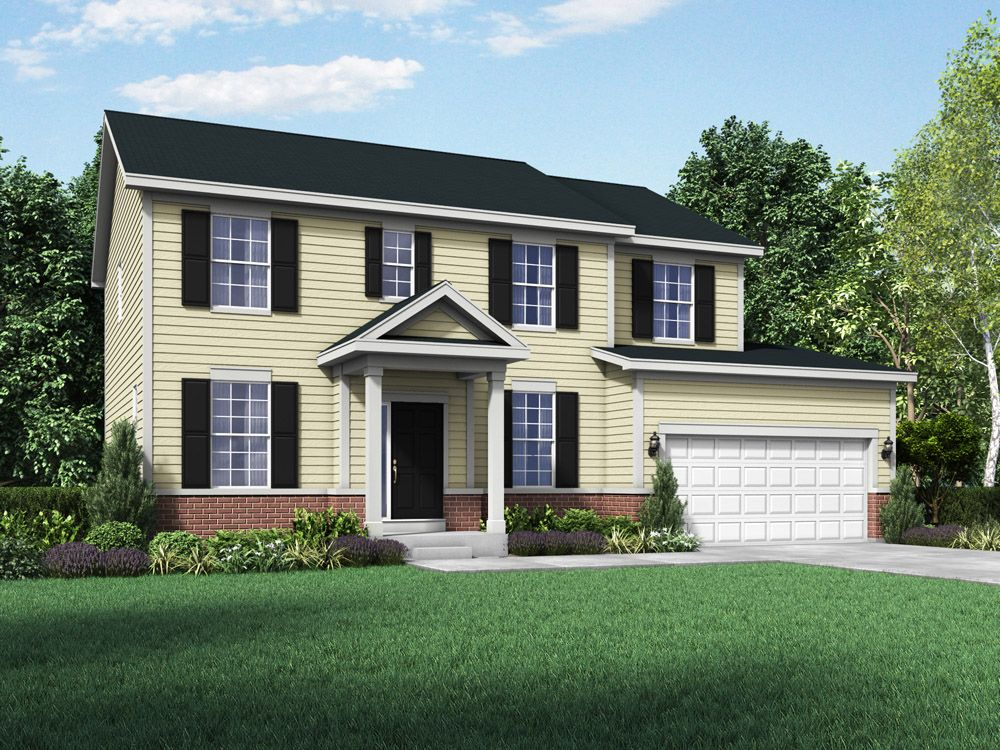 Williamsburg exterior elevation rendering Stratford II by William Ryan Homes:Stratford II - Williamsburg