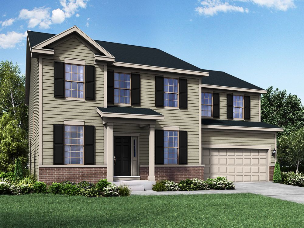 Williamsburg exterior elevation rendering Jefferson II by William Ryan Homes:Jefferson II - Williamsburg