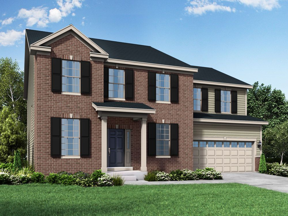 Williamsburg exterior elevation rendering Jefferson II at Stonebridge in Hawthorn Woods IL by Wil...:Jefferson II - Williamsburg
