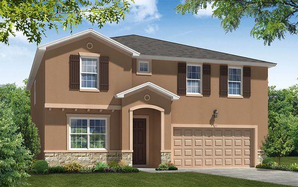 Juniper FL elevation 1 William Ryan Homes Tampa:Juniper FL - Elevation 1